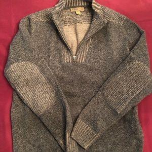 3/4 zip men's sweater